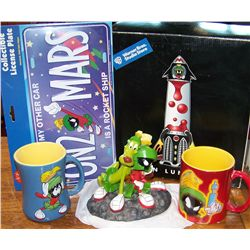 Five Marvin Martian Collectibles.