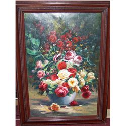 Still Life Painting Signed A. Larsen.
