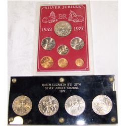 (2X$) SILVER JUBILEE 1977 COMMEMORATIVE BRITISH COLLECTIONS.