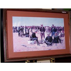 Frederic Remington Nicely Framed Art Print.