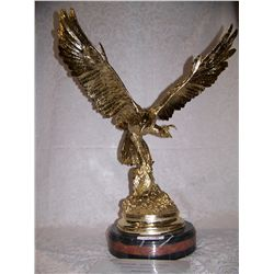 "Jules Moigniez (after) ""FALCON""  24K Gold Plated Bronze."