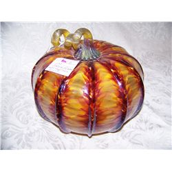 "SEATTLE GLASS STUDIOS ""TORTOISE SHELL PUMPKIN"""