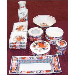 Fourteen Pc. Japanese Dining Set.
