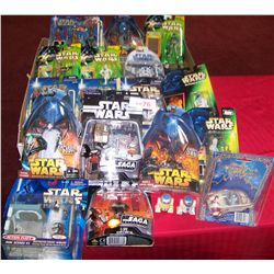(20) PIECE STAR WARS ASSORTED TOY, FIGURINE LOT (all but two are in unopened packages)