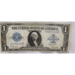 "1923 LARGE SILVER CERTIFICATE ""HORSE BLANKET"" VERY RARE, BOOK VALUE $85."