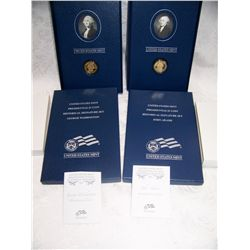 (2X$) U.S MINT PRESIDENTIAL DOLLAR & HISTORICAL SIGNATURE SETS.