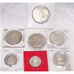 (7X$) CANADIAN & BAHAMA COMMEMORATIVE PROOF & SILVER COINS