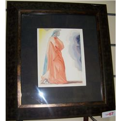 "SALVADOR DALI "" DANTE"" LE PARDIS #1 FROM DIVINE COMEDY, ITALIAN EDITION. FRAMED"