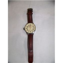 INVICTA GENTLEMAN'S LARGE FACE WATCH, W/ Leather Band, Working