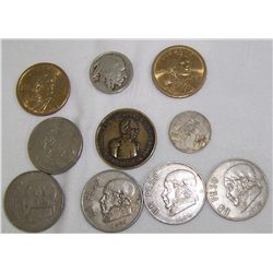 Nine  Assorted Coins.