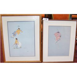 Two Native American Works by Jerome Tiger.