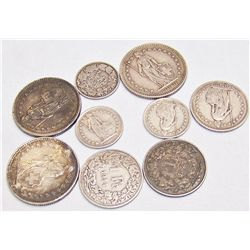 Swiss 84% Silver Coins. 1.5 oz. of Pure Silver.