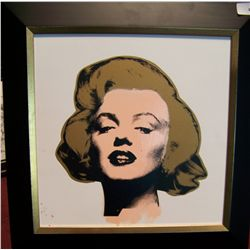 "STEVE KAUFMAN ""MARILYN"" ORIGINAL HAND PAINTED SILK SCREEN ON CANVAS."
