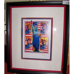 "PETER MAX ""GOD BLESS AMERICA"" ORIGINAL SERIGRAPH."