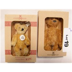 (2X$) STEIFF COLLECTOR BEARS 1997-98 & 2002-03.  NEW IN BOX.