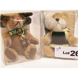 (2X$) HERMANN CHRISTMAS ORNAMENT BEARS.