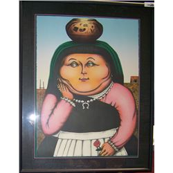 """HOMAGE TO BOTERO"" DAVID P. BUDLEY ORIGINAL LITHOGRAPH."