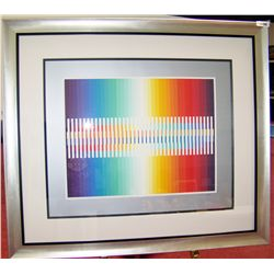 AGAM AGAMOGRAPH ARTIST PROOF, CUSTOM FRAMED.