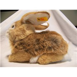 STEIFF Poppel Rabbit, Brown, Crouching #077760.