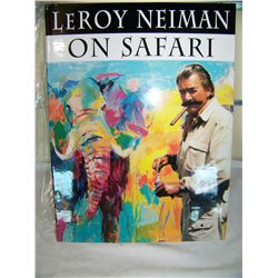 LeROY NEIMAN HAND SIGNED ON SAFARI BOOK