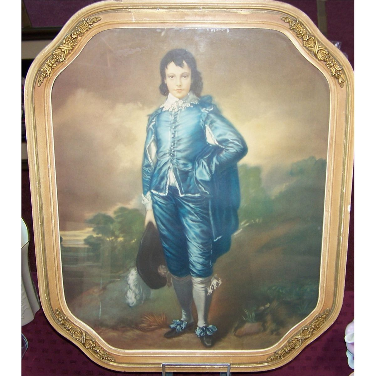 Image 3 Vintage Antique Nicely Framed Blue Boy Pink