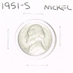 1951-S JEFFERSON NICKEL *PLEASE LOOK AT PICTURE TO DETERMINE GRADE*!!