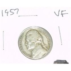 1957 JEFFERSON NICKEL *VERY FINE GRADE*!!