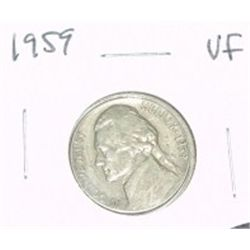 1959 JEFFERSON NICKEL *VERY FINE GRADE*!!