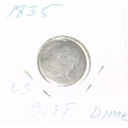 1835 CAPPED BUST DIME SILVER *RARE HARD TO FIND !!