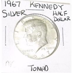 1967 SILVER KENNEDY HALF DOLLAR *RARE MS TONED HIGH GRADE*!!