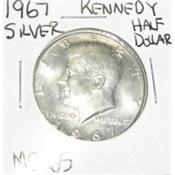 1967 SILVER KENNEDY HALF DOLLAR *EXTREMELY RARE MS-65 HIGH GRADE*!!