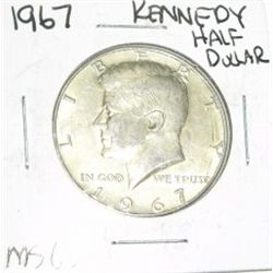 1967 SILVER KENNEDY HALF DOLLAR *RARE MS-63 HIGH GRADE*!!