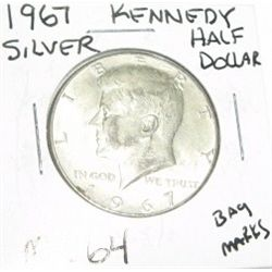 1967 SILVER KENNEDY HALF DOLLAR *EXTREMELY RARE MS-64 HIGH GRADE*