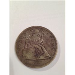 1860-O SEATED LIBERTY SILVER DOLLAR