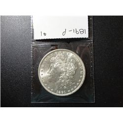 1891-P MORGAN SILVER DOLLAR, MS-64