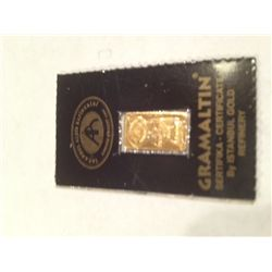 .999 PURE 24K GOLD BAR 1 GRAM