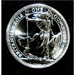 2012 BRITISH BRITTANNIA, BU 1 OUNCE SILVER BULLION COIN
