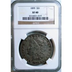 1899 MORGAN DOLLAR NGC XF-40