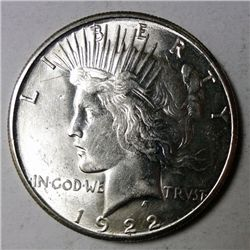 1922 S PEACE DOLLAR CHOICE/GEM BU NICE!