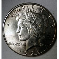 1926-S PEACE DOLLAR CHOICE/GEM BU NICE!