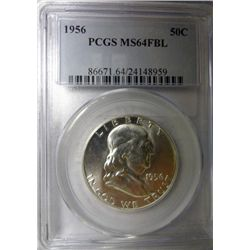 1956 FRANKLIN HALF DOLLAR PCGS MS64 FBL SUPER