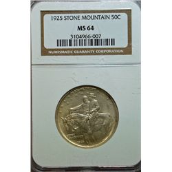 1925 STONE MOUNTAIN HALF DOLLAR NGC MS64
