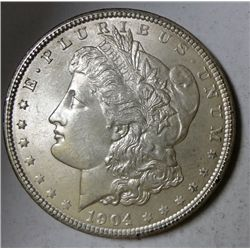1904 MORGAN DOLLAR GEM BU NICE COIN