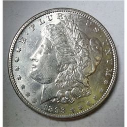1893 MORGAN DOLLAR CHOICE BU++ SUPER NICE  EST. $750-$820