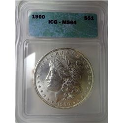 1900 MORGAN DOLLAR ICG MS64