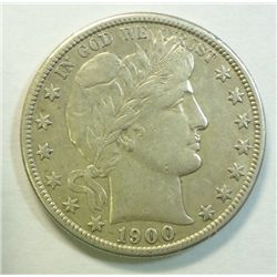 1900S Barber half $  highly lusterous XF/AU