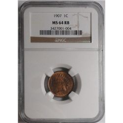 1907    Indian penny  NGC64RB