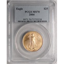 2004 $25.00 AMERICAN GOLD EAGLE PCGS MS70!!!!  EST. $900.00-$950.00