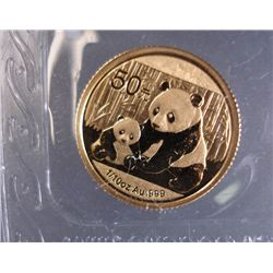 2012 1/10TH oz. GOLD CHINESE PANDA