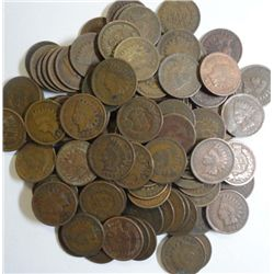 125  1909 or older Indian cents, good or better